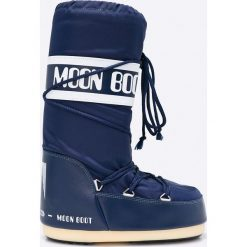 Moon Boot - Śniegowce. Niebieskie śniegowce i trapery damskie Moon Boot, z materiału. Za 359.90 zł.
