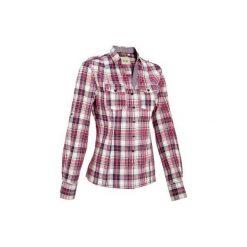 Koszula Sentier róż-biał. Czerwone koszule damskie OKKSO, z materiału, z długim rękawem. Za 129.99 zł.