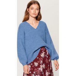 Sweter z bufiastymi rękawami - Niebieski. Swetry damskie marki KALENJI. W wyprzedaży za 79.99 zł.