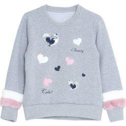 Jasnoszara Bluza Your Hope. Bluzy dla dziewczynek marki bonprix. Za 59.99 zł.