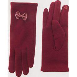 Rękawiczki z kokardkami - Bordowy. Czerwone rękawiczki damskie House. Za 29.99 zł.