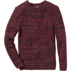 Sweter melanżowy Regular Fit bonprix bordowo-ciemnoszary melanż. Czerwone swetry przez głowę męskie bonprix, melanż. Za 99.99 zł.