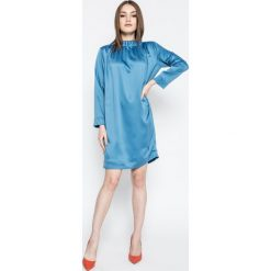 Trussardi Jeans - Sukienka. Niebieskie sukienki damskie TRUSSARDI JEANS, z jeansu, casualowe. W wyprzedaży za 429.90 zł.