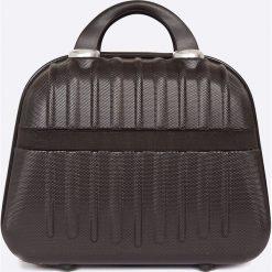 VIP COLLECTION - Walizka 16 L. Czarne walizki męskie VIP COLLECTION, z materiału. W wyprzedaży za 119.90 zł.