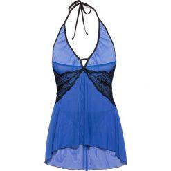 Koszulka nocna + stringi (2 części) bonprix błękit królewski-czarny. Koszule nocne damskie marki MAKE ME BIO. Za 59.99 zł.