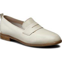 Półbuty CLARKS - Alania Belle 261230404 White Leather. Brązowe półbuty damskie Clarks, ze skóry. W wyprzedaży za 239.00 zł.