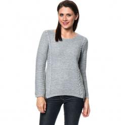 Sweter w kolorze szarym. Szare swetry damskie Assuili, z kaszmiru, z okrągłym kołnierzem. W wyprzedaży za 159.95 zł.