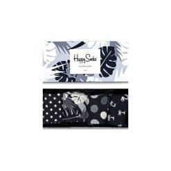 Giftbox (4-pak) skarpetki Happy Socks XBLW09-9002. Czarne skarpety męskie Happy Socks. Za 83.93 zł.