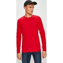 Tommy Hilfiger - Longsleeve. Różowe bluzki z długim rękawem męskie Tommy Hilfiger, z bawełny, z okrągłym kołnierzem. Za 159.90 zł.