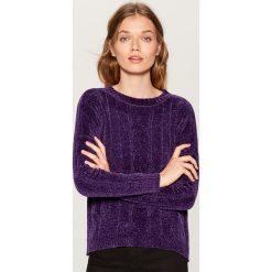 Szenilowy sweter - Fioletowy. Fioletowe swetry damskie Mohito. Za 99.99 zł.
