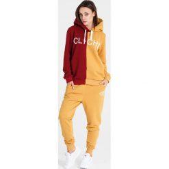 Naoko - Bluza Cliche Soleil Rouge. Pomarańczowe bluzy damskie NAOKO, z nadrukiem, z bawełny. W wyprzedaży za 199.90 zł.