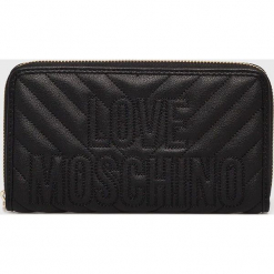 Love Moschino - Portfel. Czarne portfele damskie Love Moschino, z materiału. Za 439.90 zł.