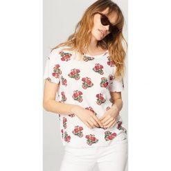 T-shirt z nadrukiem - Wielobarwn. Szare t-shirty i topy dla dziewczynek Reserved, z nadrukiem. Za 24.99 zł.