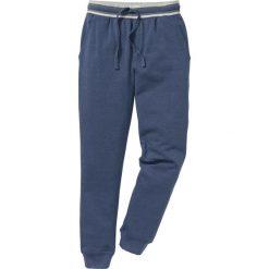 Spodnie sportowe pique bonprix indygo melanż. Niebieskie spodnie sportowe męskie bonprix, melanż. Za 79.99 zł.