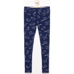 Wzorzyste spodnie - Granatowy. Spodnie materiałowe damskie marki bonprix. W wyprzedaży za 19.99 zł.