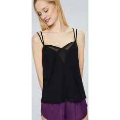 Calvin Klein Underwear - Top piżamowy. Szare piżamy damskie Calvin Klein Underwear, z dzianiny. W wyprzedaży za 89.90 zł.