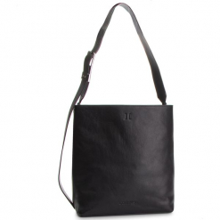 Torebka CALVIN KLEIN - Strapped Large Hobo K60K604936 001. Czarne torebki do ręki damskie Calvin Klein, ze skóry ekologicznej. Za 1,299.00 zł.