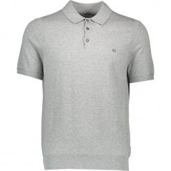 Koszulka polo w kolorze szarym. Szare koszulki polo męskie Ben Sherman, z haftami, z bawełny. W wyprzedaży za 130.95 zł.