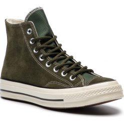 Trampki CONVERSE - Chuck 70 Hi 162371C Utility Green/Blac. Zielone trampki męskie Converse, z materiału. W wyprzedaży za 319.00 zł.