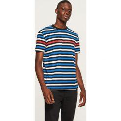 T-shirt w paski - Niebieski. Niebieskie t-shirty męskie Reserved, w paski. Za 59.99 zł.