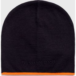 Trussardi Jeans - Czapka. Czarne czapki i kapelusze męskie TRUSSARDI JEANS. Za 169.90 zł.