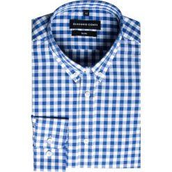 Koszula SIMONE KDWS000231. Białe koszule męskie Giacomo Conti, z bawełny, button down. Za 149.00 zł.
