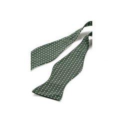Mucha wiązana REUS zielony. Zielone krawaty i muchy Hisoutfit, z materiału, wizytowe. Za 89.00 zł.