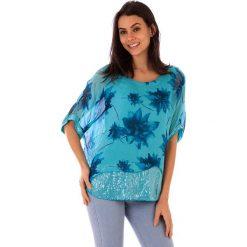 Koszulka w kolorze turkusowym. T-shirty damskie 100% Soie, klasyczne, z okrągłym kołnierzem. W wyprzedaży za 130.95 zł.