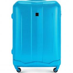 Walizka duża 56-3A-373-77. Niebieskie walizki damskie Wittchen, z gumy. Za 199.00 zł.