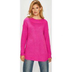 Vero Moda - Sweter. Różowe swetry damskie Vero Moda, z dzianiny. Za 119.90 zł.