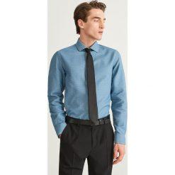 Wzorzysta koszula slim fit - Turkusowy. Niebieskie koszule męskie Reserved. Za 139.99 zł.