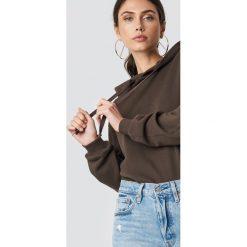 NA-KD Basic Bluza z kapturem basic - Brown. Brązowe bluzy damskie NA-KD Basic. Za 100.95 zł.