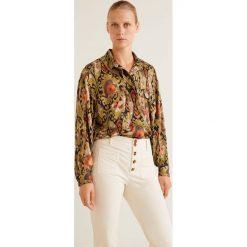 Mango - Koszula Ptsecond. Szare koszule damskie Mango, z materiału, klasyczne, z klasycznym kołnierzykiem, z długim rękawem. Za 199.90 zł.