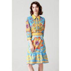 2-częściowy zestaw - koszula, spódnica. Niebieskie koszule damskie Burryco. W wyprzedaży za 369.95 zł.