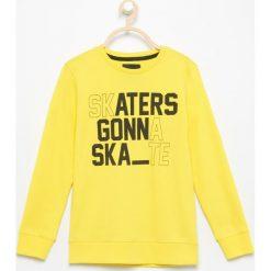 Bluza skaters gonna skate - Żółty. Bluzy dla chłopców Reserved. Za 39.99 zł.