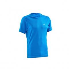 Koszulka do biegania krótki rękaw RUN DRY męska. Niebieskie koszulki sportowe męskie KALENJI, z materiału, z krótkim rękawem. Za 14.99 zł.