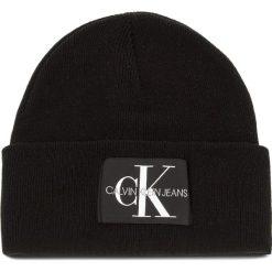 Czapka CALVIN KLEIN JEANS - J Basic Men Knitted K50K504173  016. Czarne czapki i kapelusze męskie Calvin Klein Jeans, z jeansu. Za 179.00 zł.