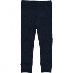 """Legginsy """"Willow"""" w kolorze granatowym. Niebieskie legginsy dla dziewczynek Name it Baby, z wełny. W wyprzedaży za 49.95 zł."""