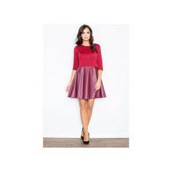 Sukienka M162 Bordo. Czerwone sukienki damskie Figl, z materiału. Za 139.00 zł.