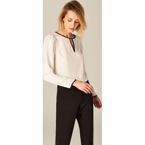 960a60209f028f Elegancka bluzka z bufkami - Biały - Bluzki damskie Mohito ...