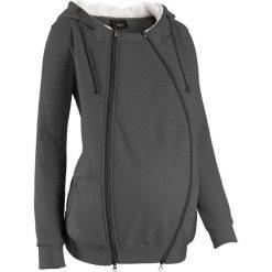 Bluza rozpinana ciążowa z wstawką niemowlęcą i miękką spodnią stroną bonprix antracytowy melanż. Bluzy dla niemowląt bonprix, melanż, z materiału. Za 149.99 zł.