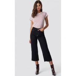 NA-KD Trend Spodnie culotte z wysokim stanem - Black. Czarne spodnie materiałowe damskie NA-KD Trend, z denimu. Za 202.95 zł.