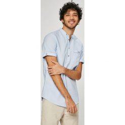Medicine - Koszula Traveller. Szare koszule męskie MEDICINE, z bawełny, ze stójką, z krótkim rękawem. W wyprzedaży za 59.90 zł.