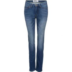 Dżinsy dresowe ocieplane STRAIGHT bonprix niebieski. Niebieskie jeansy damskie bonprix. Za 149.99 zł.