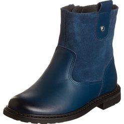 Skórzane botki w kolorze niebieskim. Botki dziewczęce Zimowe obuwie dla dzieci. W wyprzedaży za 135.95 zł.