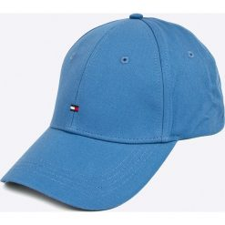 Tommy Hilfiger - Czapka. Szare czapki i kapelusze damskie Tommy Hilfiger, z bawełny. W wyprzedaży za 99.90 zł.