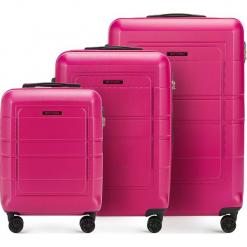 Zestaw walizek 56-3H-54S-60. Czarne walizki damskie Wittchen, z gumy. Za 499.41 zł.