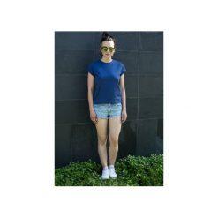 T-shirt Prosta Historia granatowy. Niebieskie t-shirty damskie Mktp mój kraj taki piękny, z bawełny. Za 89.00 zł.