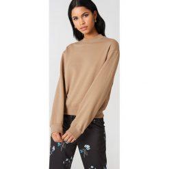 NA-KD Basic Bluza basic - Beige. Brązowe bluzy damskie NA-KD Basic, z dresówki. Za 100.95 zł.