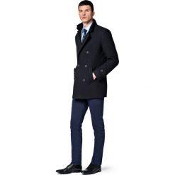 Płaszcz Czarny Embrace. Czarne płaszcze męskie LANCERTO, na jesień, z tkaniny. Za 799.90 zł.